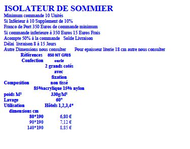 Isolateur sommier le fabricant de protection literie - Isolateur de sommier ...